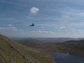 Helikopter boven Red Tarn